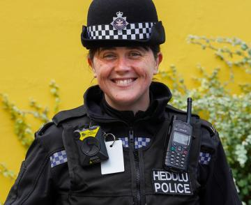 Female officer in Wales